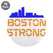 """Boston Strong Skyline 3.5"""" Button (10 pack)"""