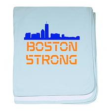 Boston Strong Skyline baby blanket