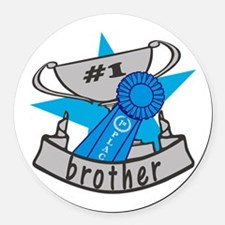World's Best Brother Round Car Magnet