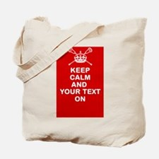 Lacrosse Keep Calm and ???? On Tote Bag