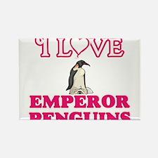 I Love Emperor Penguins Magnets