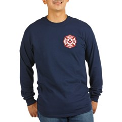 Masonic Fire & Rescue Long Sleeve Dark T-Shirt