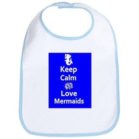 Keep Calm & Love Mermaids Bib