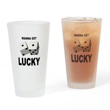 LUCKY Drinking Glass