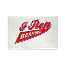 I rep Bermuda Rectangle Magnet