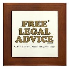 Free Legal Advice (2) Framed Tile