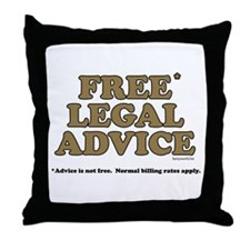 Free Legal Advice (2) Throw Pillow