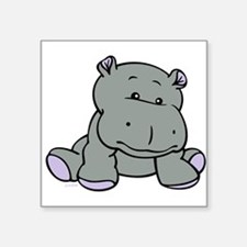 "Hippo Baby Square Sticker 3"" x 3"""