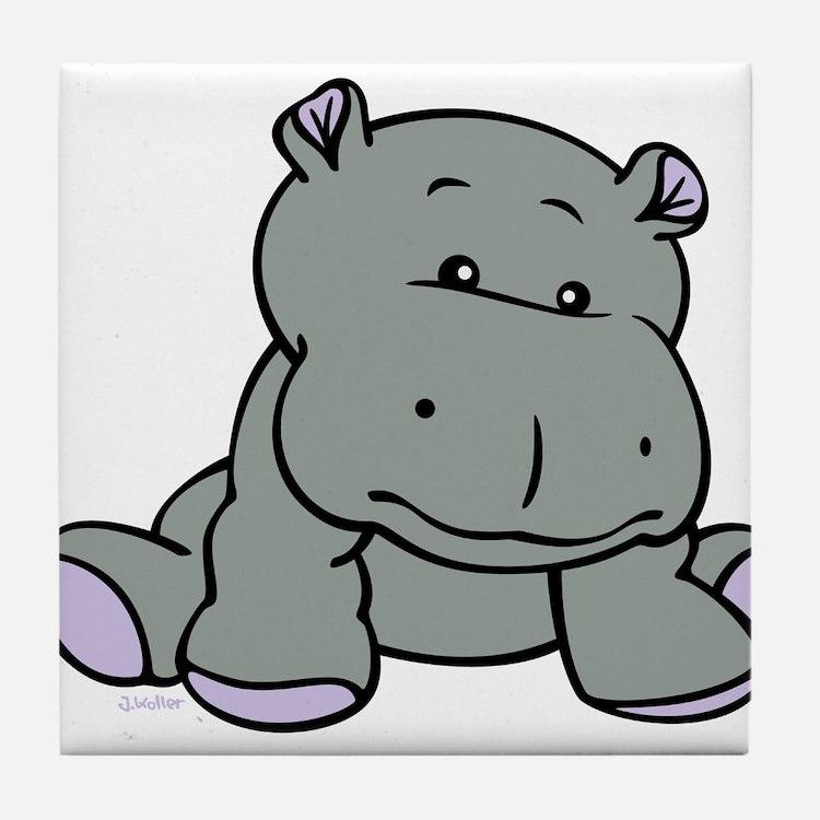 Hippo Baby Tile Coaster