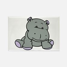 Hippo Baby Rectangle Magnet