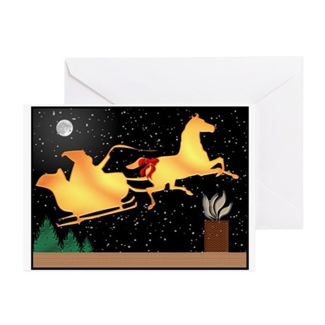 Santa and Horse Greeting Cards (Pk of 10)