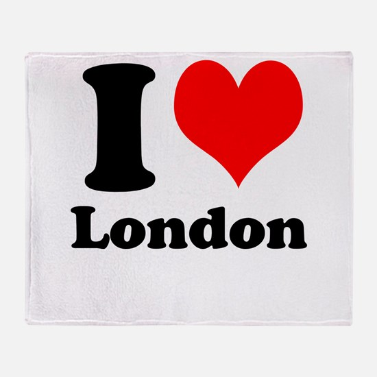I Heart (Love) London Throw Blanket