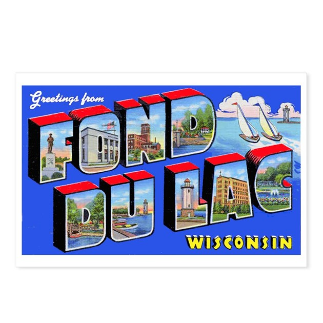 Fond Du Lac Wisconsin Greetings Postcards (Package By W2arts