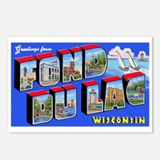 Fond Du Lac Wisconsin Greetings Postcards (Package