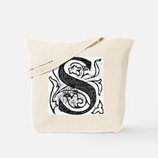 Fancy Monogram S Tote Bag