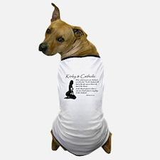 Kinky and Catholic Black and White Dog T-Shirt