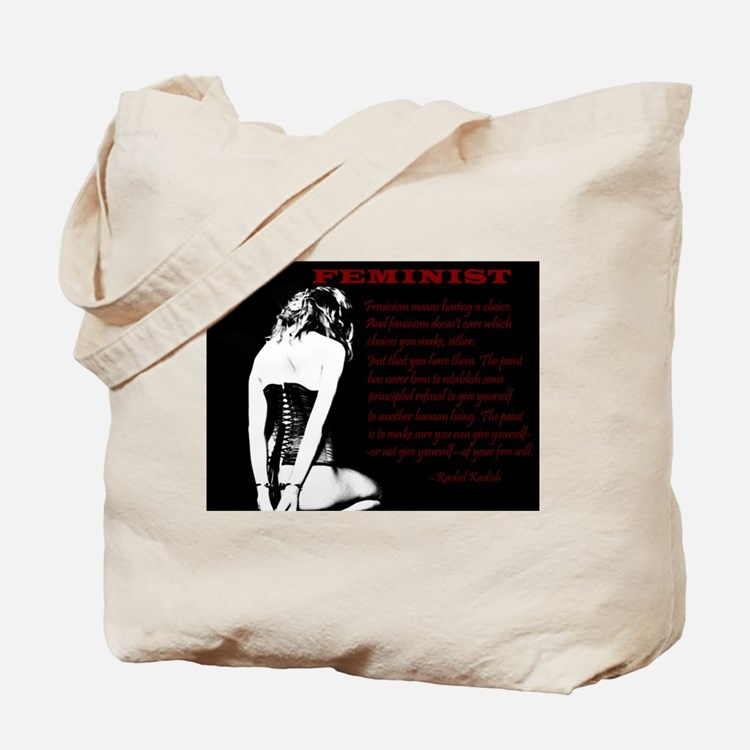 Submissive Feminism - BDSM Design Tote Bag