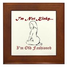 Old Fashioned Girl - BDSM Design Framed Tile