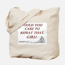 Witty Dominant Design in White - BDSM Designs Tote