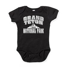 Grand Teton Old Style White.png Baby Bodysuit