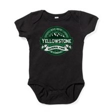 Yellowstone NP Forest Green.png Baby Bodysuit