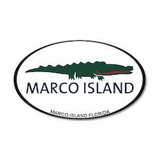 Marco Island - Alligator Design. Wall Decal