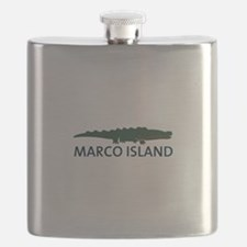 Marco Island - Alligator Design. Flask
