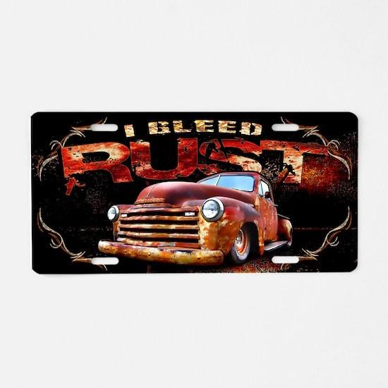 I Bleed Rust Aluminum License Plate