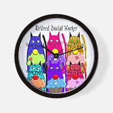 retired social worker 1 Wall Clock