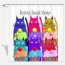 retired social worker 1 Shower Curtain