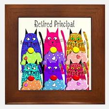 retired principal 1 Framed Tile