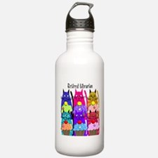 Retired Librarian Water Bottle