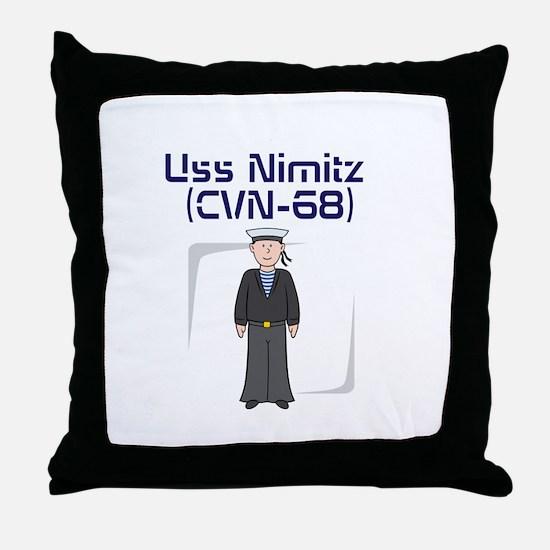 USS Nimitz Throw Pillow