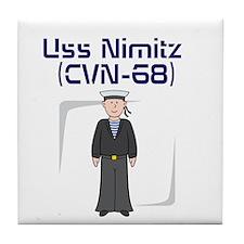 USS Nimitz Tile Coaster
