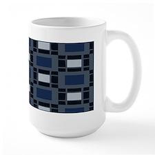 Shades of Blue Geometric Mug
