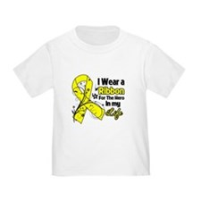 Ribbon Hero Testicular Cancer T