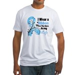 Ribbon Hero Prostate Cancer Fitted T-Shirt