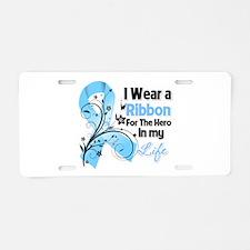 Ribbon Hero Prostate Cancer Aluminum License Plate