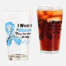 Ribbon Hero Prostate Cancer Drinking Glass