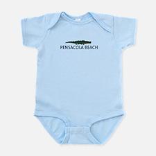 Pensacola Beach - Alligator Design. Infant Bodysui