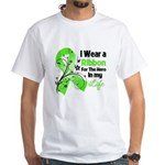 Ribbon Hero Non-Hodgkins White T-Shirt
