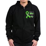 Ribbon Hero Non-Hodgkins Zip Hoodie (dark)