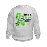 Ribbon Hero Non-Hodgkins Kids Sweatshirt