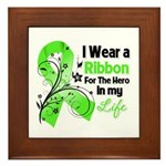 Ribbon Hero Non-Hodgkins Framed Tile