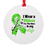 Ribbon Hero Non-Hodgkins Round Ornament