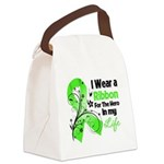 Ribbon Hero Non-Hodgkins Canvas Lunch Bag