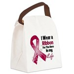 Ribbon Hero Multiple Myeloma Canvas Lunch Bag