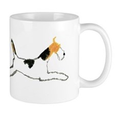 Leaping Wire Fox Terrier Mug