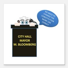 "Mayor Square Car Magnet 3"" x 3"""