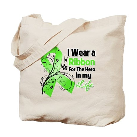 Ribbon Hero Lymphoma Tote Bag